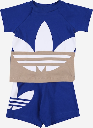 ADIDAS ORIGINALS Set 'BIG TREFOIL' in beige / royalblau / weiß, Produktansicht