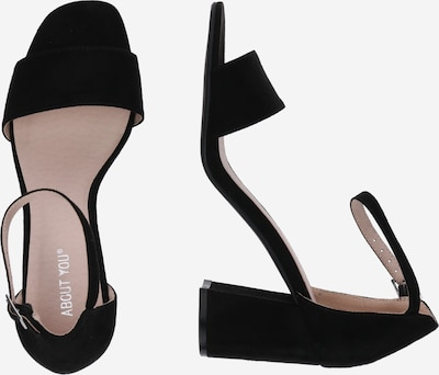ABOUT YOU Strap Sandals 'Alisha' in Black: Side view
