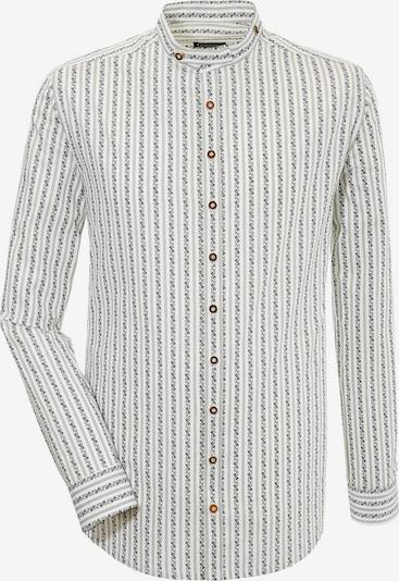 OS-TRACHTEN Trachtenhemd in graumeliert / weiß, Produktansicht