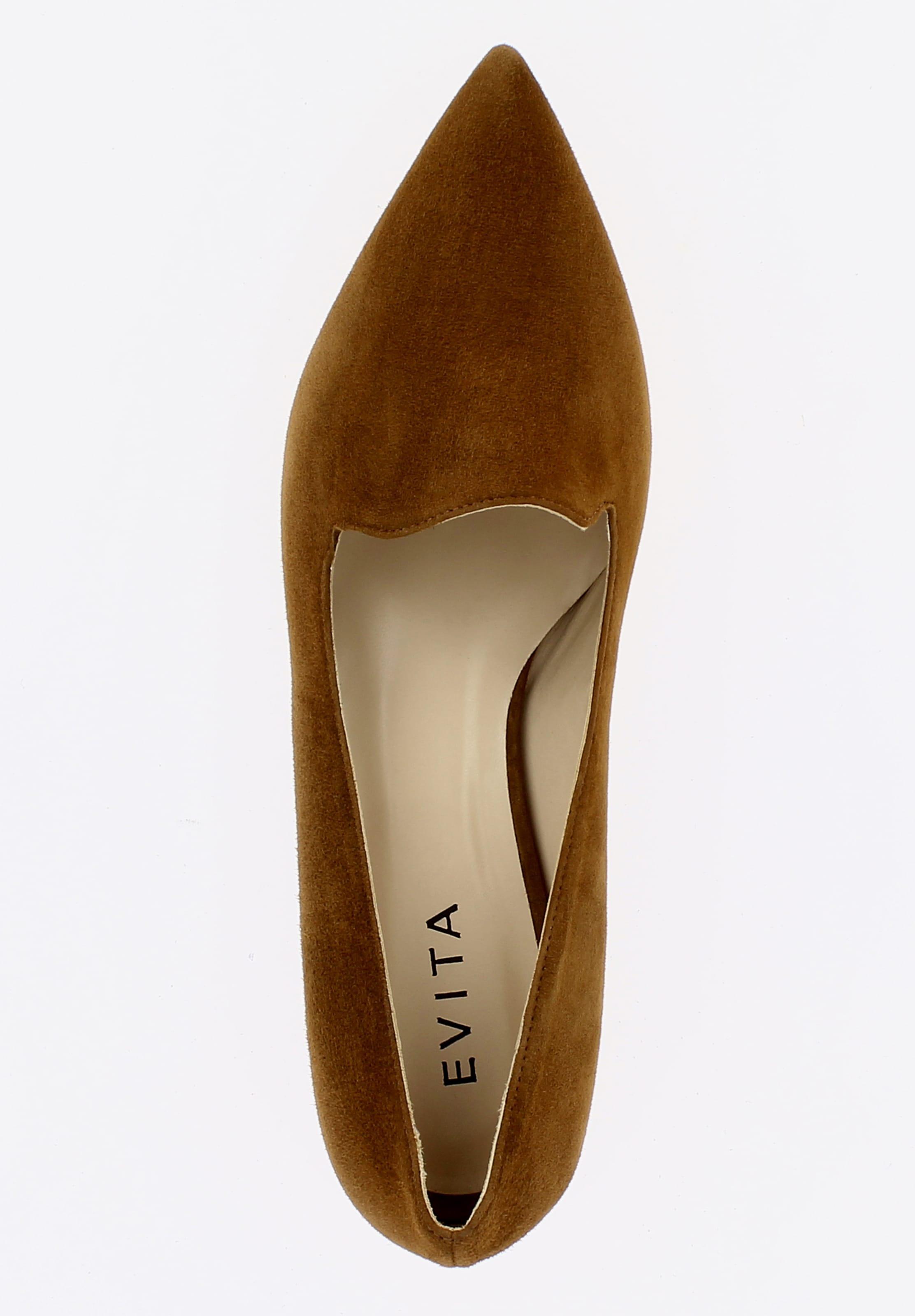 Evita En Evita Chaussons Chaussons Cognac 'franca' n0wXOk8P
