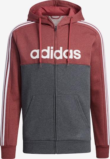 ADIDAS PERFORMANCE Sportjas in de kleur Karmijnrood: Vooraanzicht