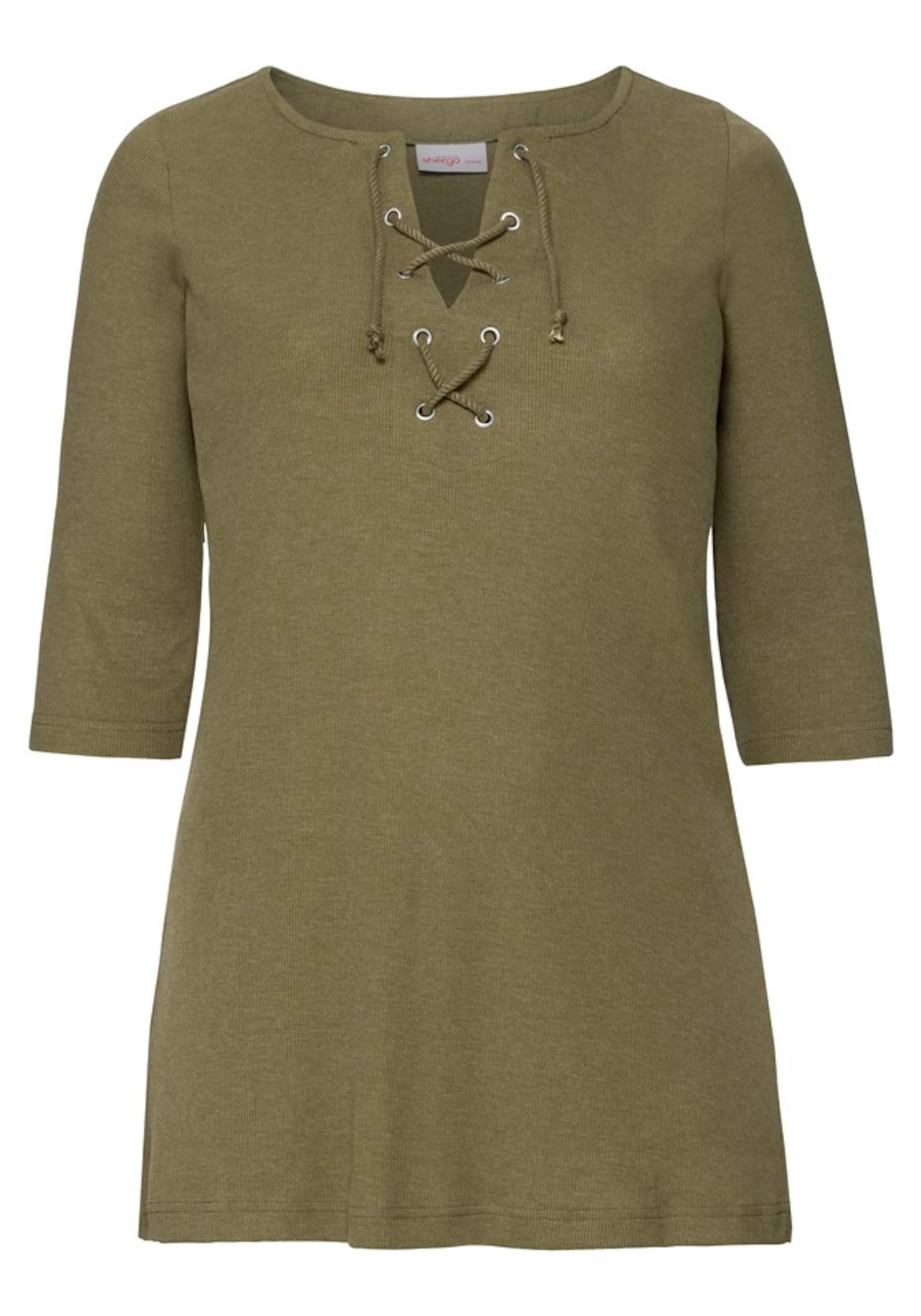 In Sheego Shirt Sheego Oliv Shirt 8wnPOk0X