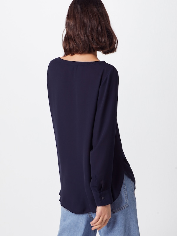Solids' High Low Blouse 'ls Tee Crew In Banana Navy Republic OPn0k8w
