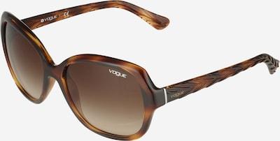 VOGUE Eyewear Lunettes de soleil en marron / brun foncé, Vue avec produit