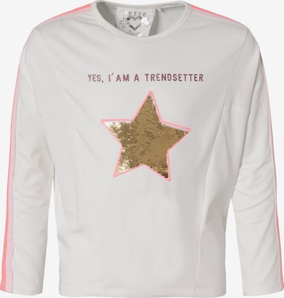 JETTE BY STACCATO Langarmshirt in pink / hellpink / weiß, Produktansicht