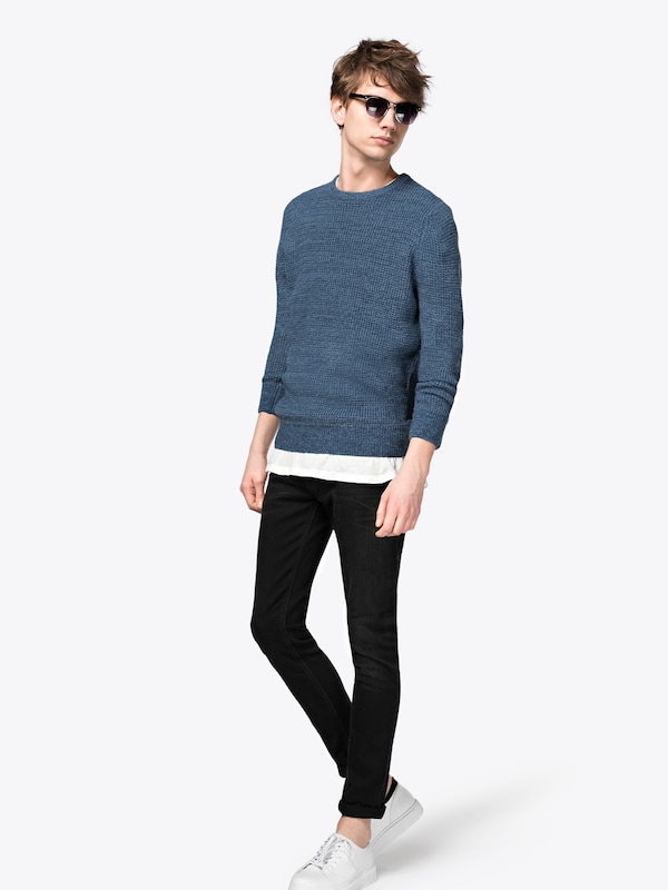 New Look Pullover Tuck Stitch Crew