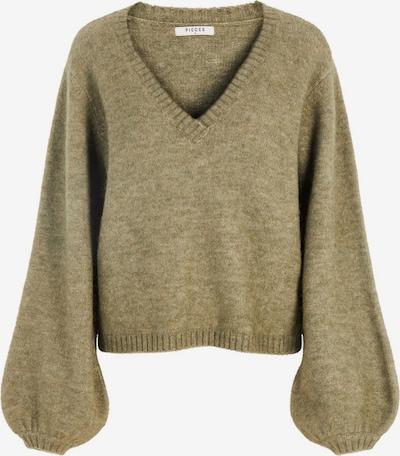 PIECES Pullover in oliv, Produktansicht