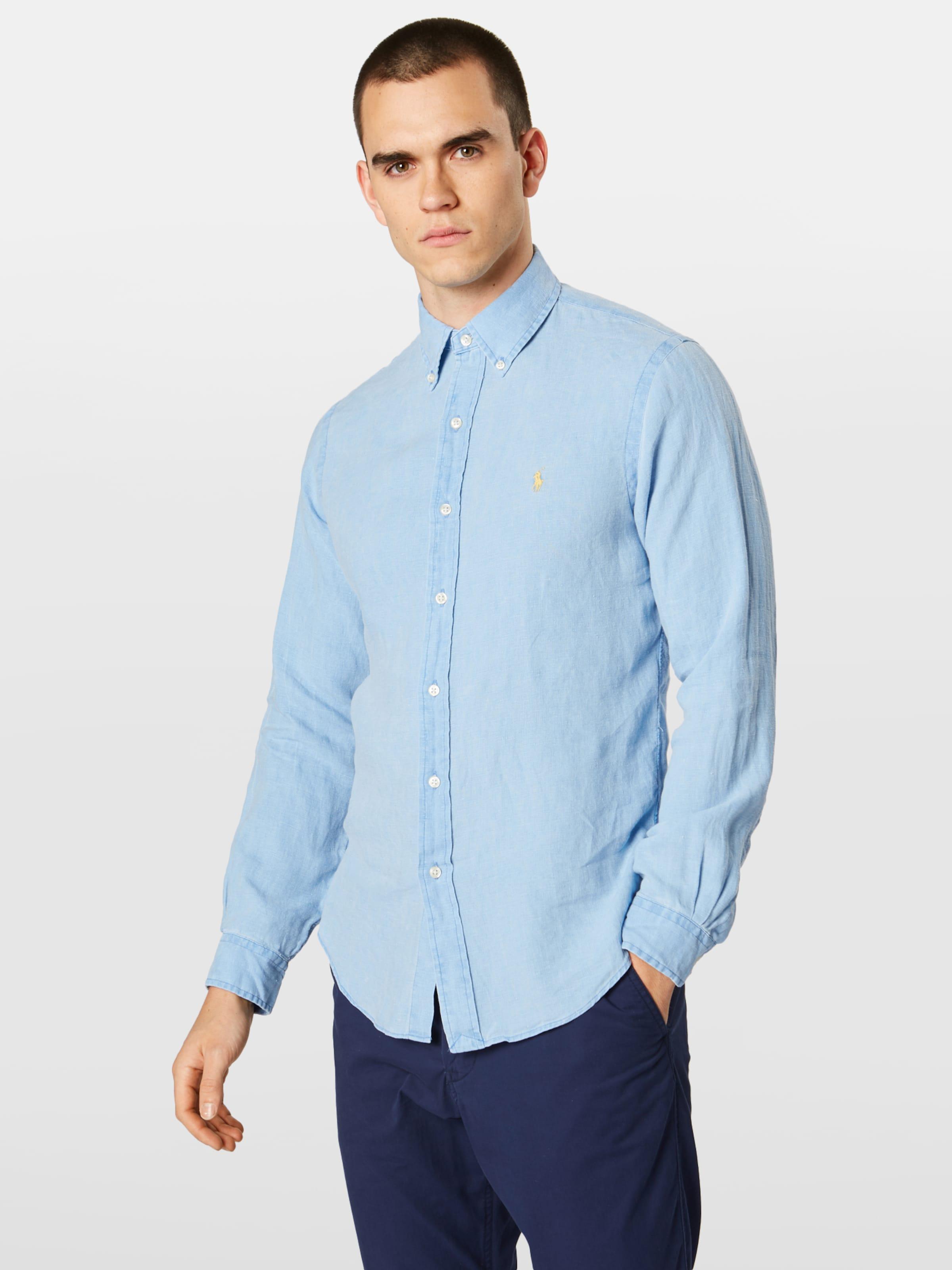 In Lauren Bd Polo Ppc Ralph Hemd 'sl long Sleeve sport Shirt' Blau Sp 43RjL5A