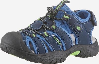 LICO Open schoenen 'Nimbo' in de kleur Marine / Smoky blue / Lichtgroen, Productweergave