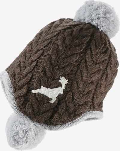 BONDI Strickmütze in braun / grau, Produktansicht