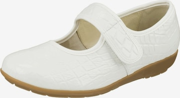 Natural Feet Ballet Flats with Strap 'Suki' in White