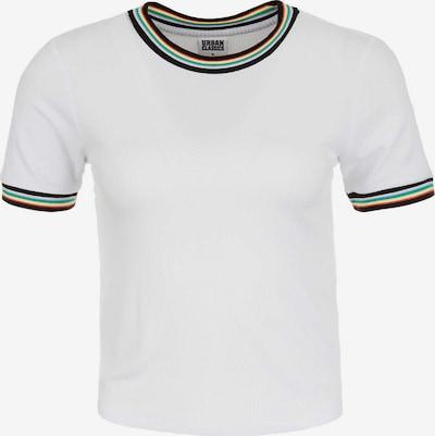 Urban Classics T-Shirt in blau / gelb / rot / weiß: Frontalansicht