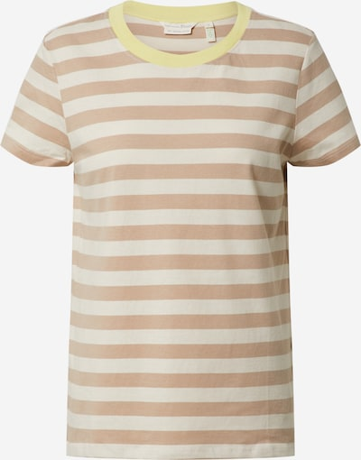 TOM TAILOR DENIM T-Shirt in beige / weiß, Produktansicht