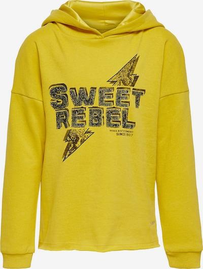 KIDS ONLY Sweatshirt 'Konnaomi' in gelb, Produktansicht