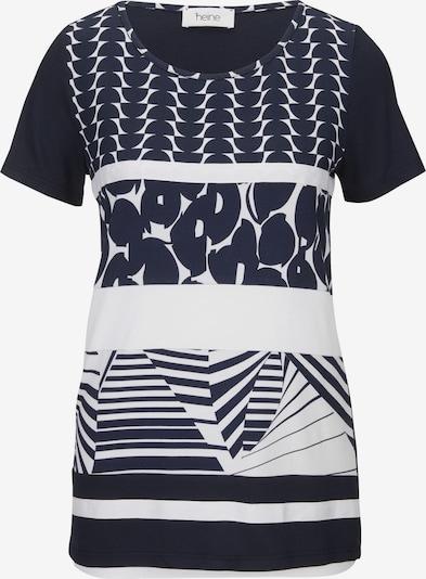 heine Shirt in marine / weiß, Produktansicht