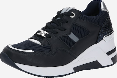SUPREMO Sneaker in nachtblau / schwarz / weiß: Frontalansicht