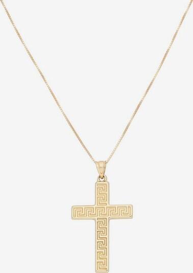 FIRETTI Kette 'Kreuz mit Mäander-Muster' in goldgelb: Frontalansicht