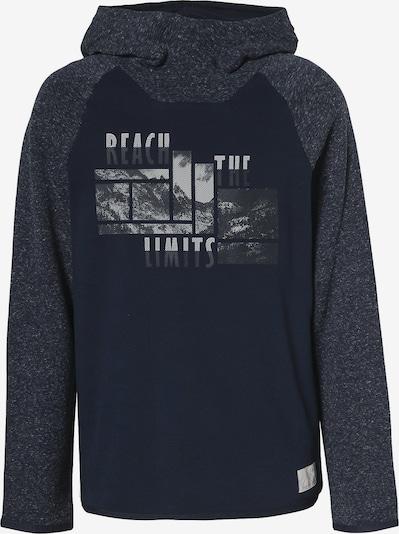 s.Oliver Sweatshirt in navy / blaumeliert / weiß, Produktansicht
