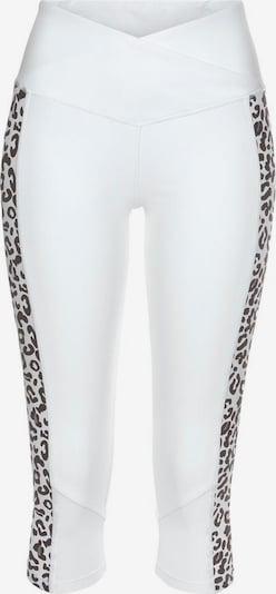 BENCH Leggings in braun / weiß, Produktansicht