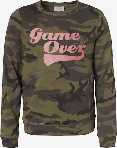 KIDS ONLY Sweatshirt in grün / rosa / schwarz, Produktansicht