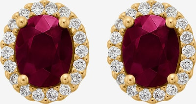 CHRIST Earrings 'Rubin' in Gold / Ruby red / White, Item view