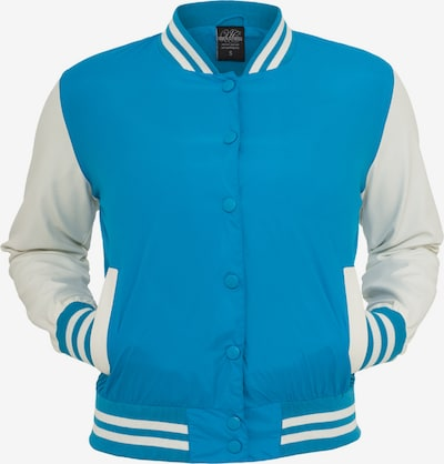 Urban Classics Tussenjas in de kleur Turquoise / Wit, Productweergave