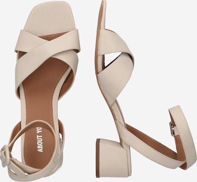 ABOUT YOU Sandaal 'Luisa' in de kleur Crème: Zijaanzicht