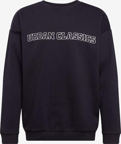 Urban Classics Jaka ar kapuci 'Mid Logo Oversized Crew' melns / balts, Preces skats