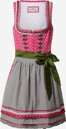 STOCKERPOINT Dirndl 'Martina' in oliv / pink, Produktansicht