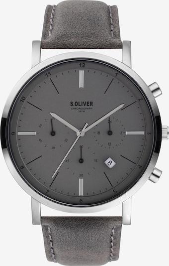 s.Oliver Uhr in dunkelgrau / silber, Produktansicht