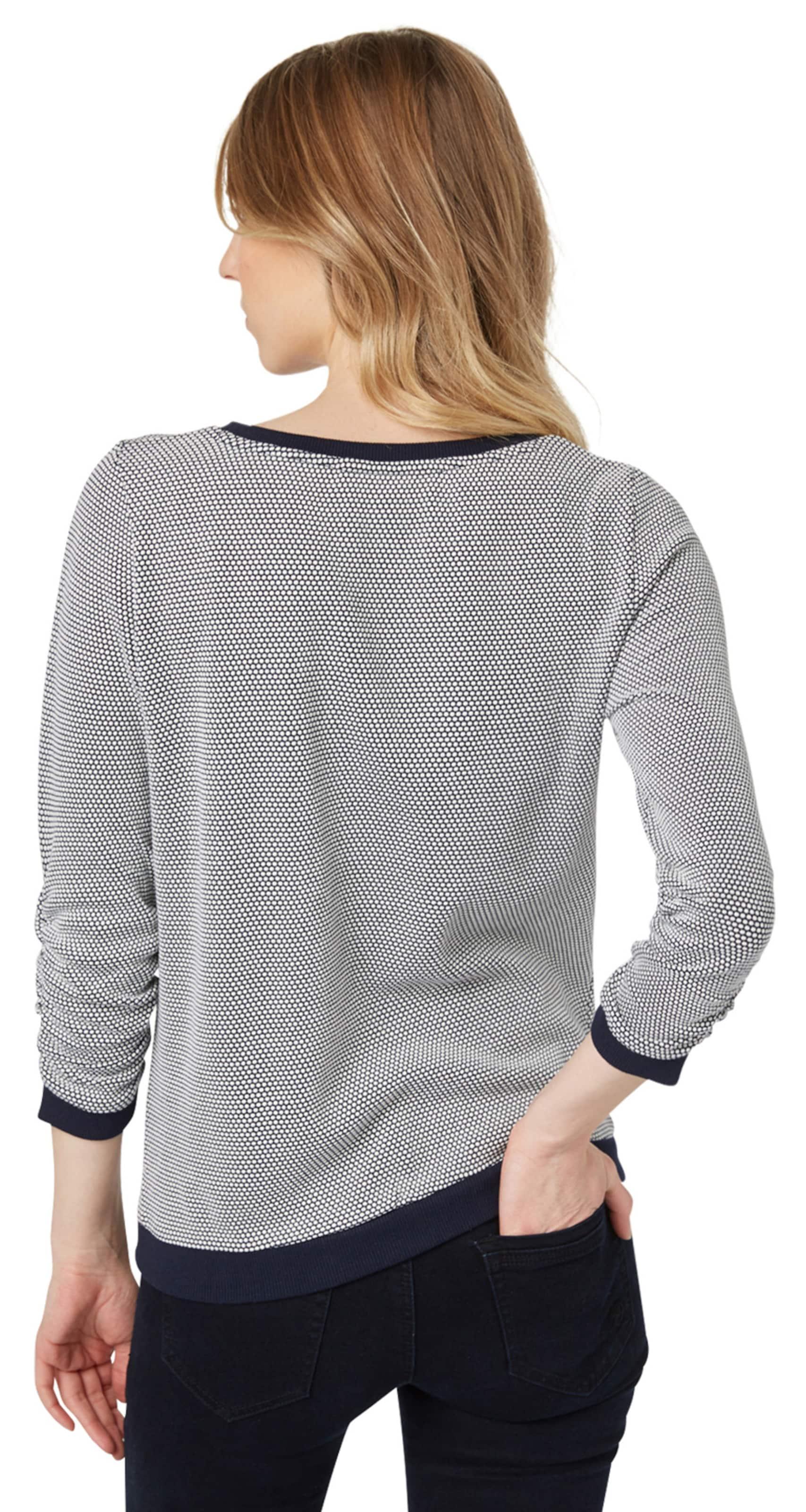 TOM TAILOR DENIM 3/4 Arm Sweatshirt mit Punkten Insbesondere Rabatt xBvuiE