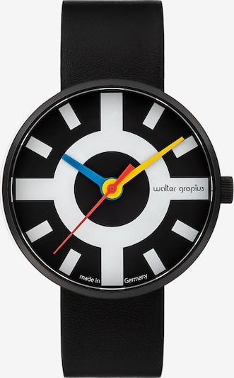 WALTER GROPIUS Uhr in schwarz / weiß, Produktansicht