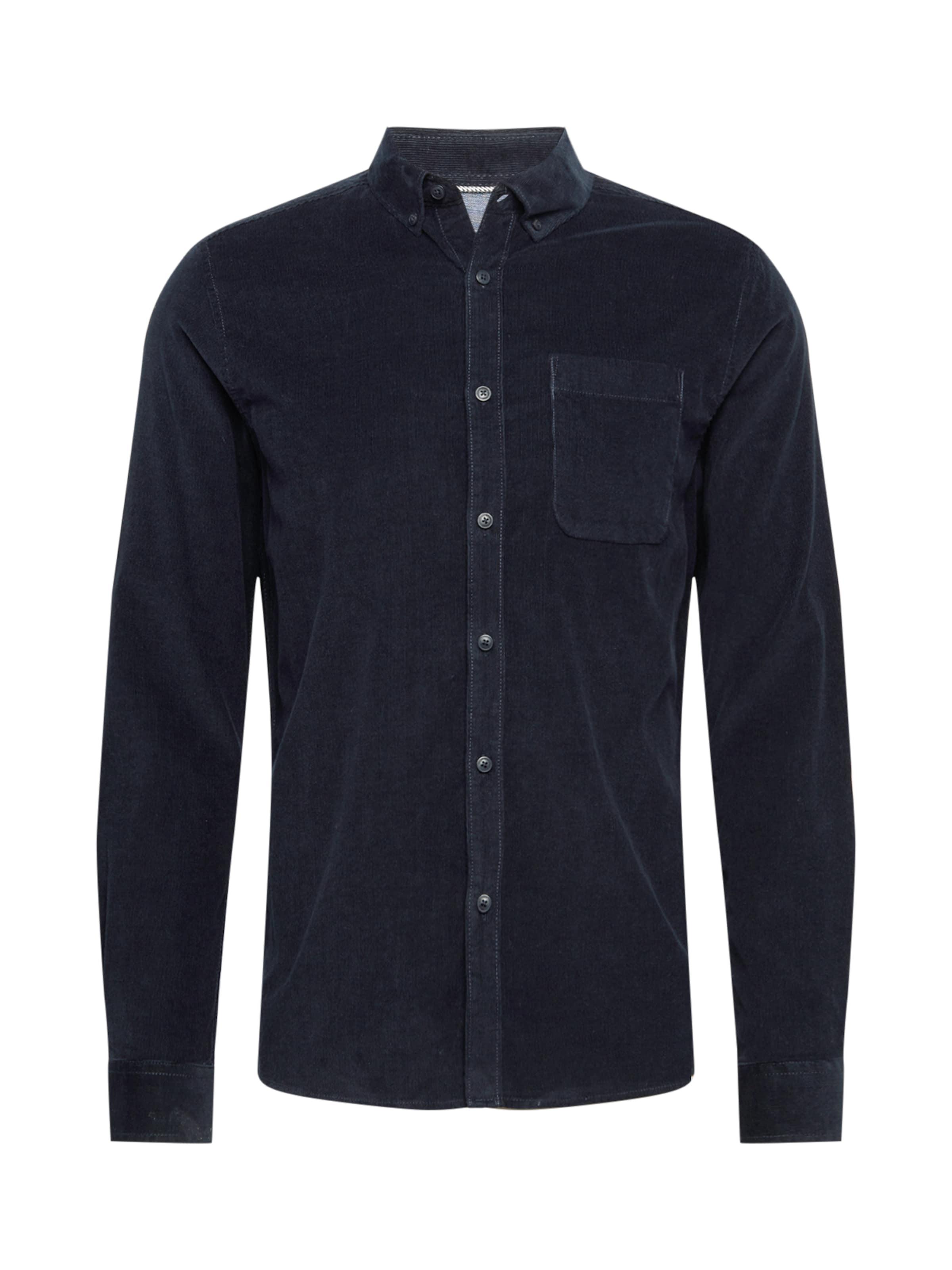 !Solid Skjorta 'Juan' i mörkblå