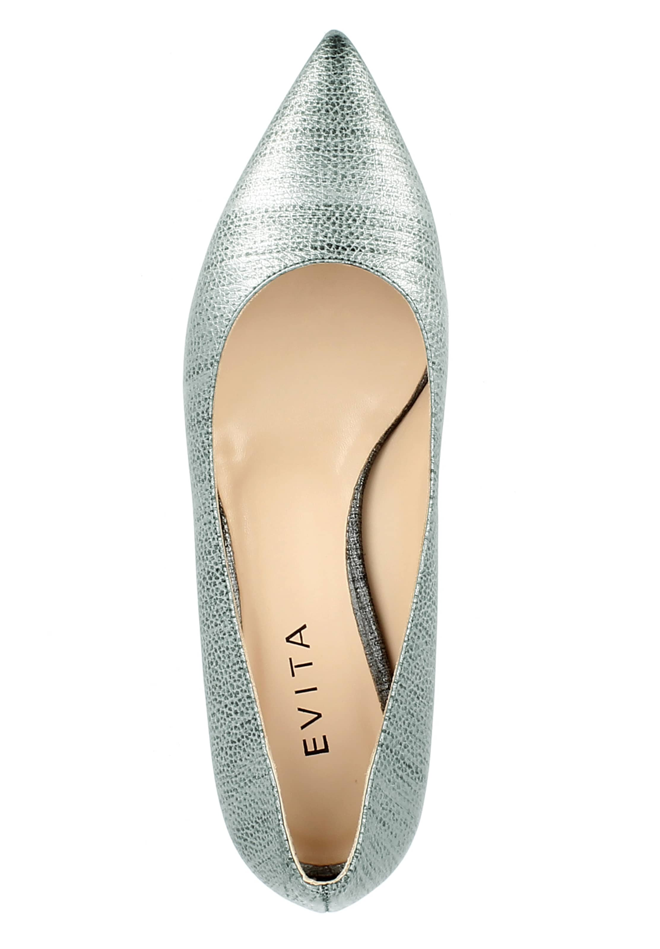 EVITA Pumps 'FRANCA' in silber