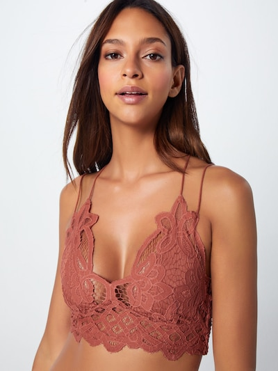 Free People Bralette 'ADELLA' in rot: Frontalansicht