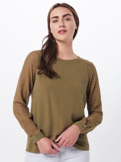 OBJECT Chemisier 'ZOE' en olive, Vue avec modèle