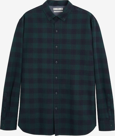 MANGO MAN Overhemd 'Claude' in de kleur Navy / Donkergroen, Productweergave