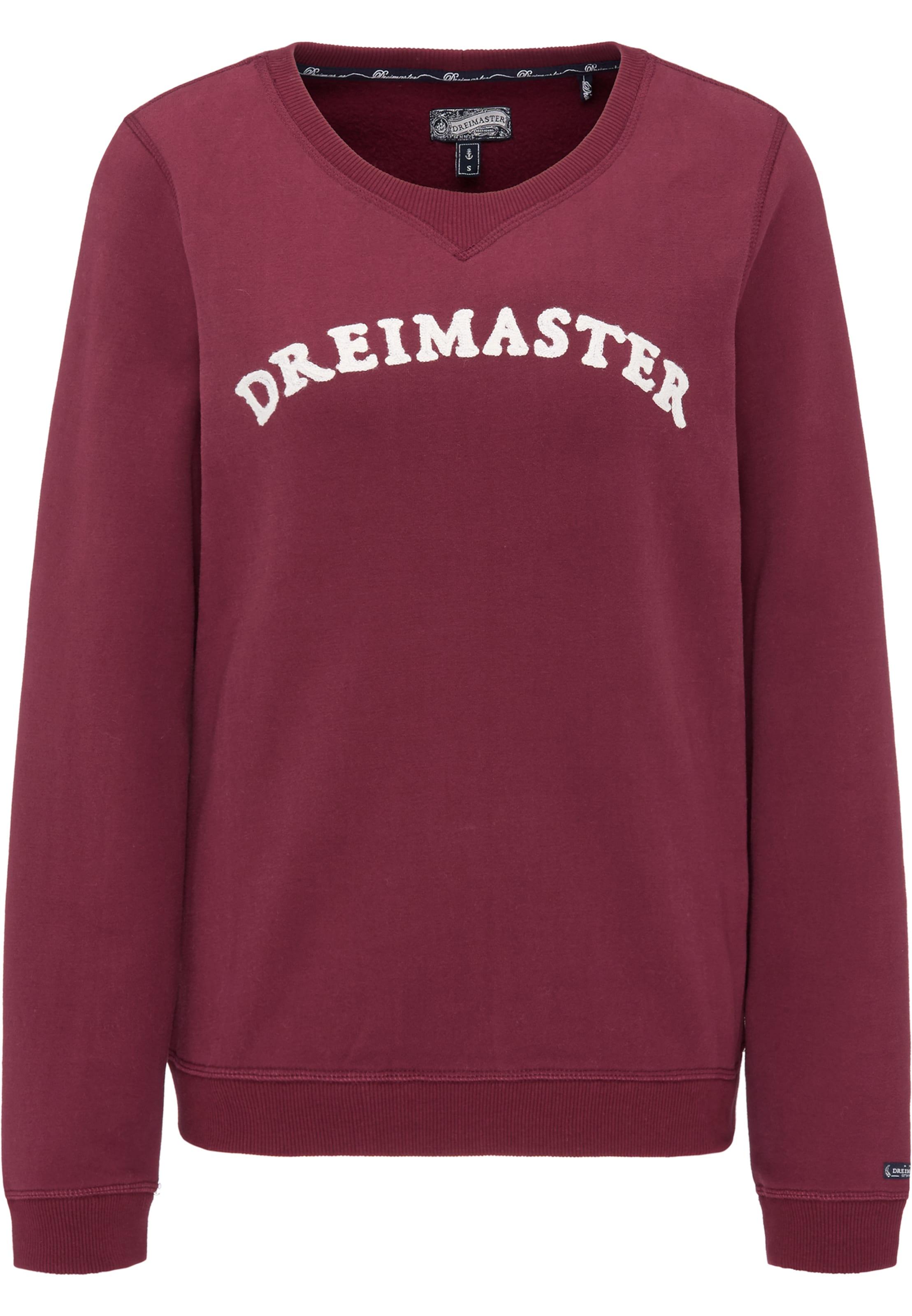 Rouge Foncé shirt Dreimaster En Sweat 1clKJF