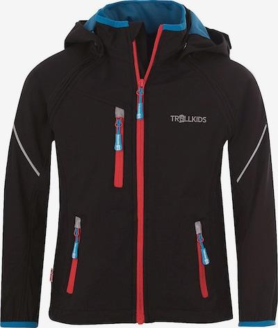 TROLLKIDS Softshelljacke 'Rondane' in hellblau / rot / schwarz, Produktansicht