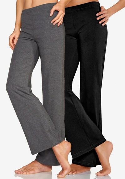 VIVANCE Leggings in graumeliert / schwarz, Modelansicht