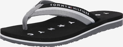 TOMMY HILFIGER Japonki 'MELLIE 13' w kolorze szary dym / czarny / białym, Podgląd produktu