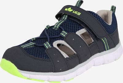 LICO Schuhe 'Matti VS' in blau / dunkelblau / neongelb: Frontalansicht