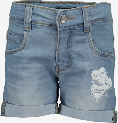 BLUE SEVEN Shorts aus Sweatdenim in blau: Frontalansicht