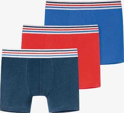 SCHIESSER Boxershorts in navy / royalblau / rot / weiß, Produktansicht