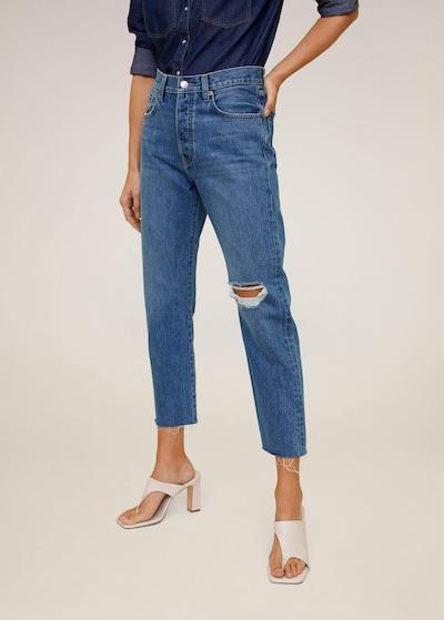 MANGO Jeans 'havana' in dunkelblau, Modelansicht