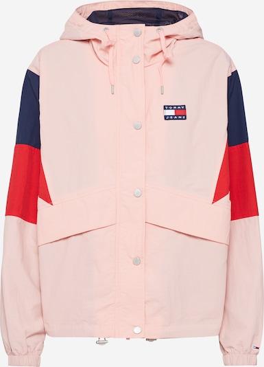 Tommy Jeans Jacke 'Contrast Panel Windbreaker' in dunkelblau / rosa / rot, Produktansicht
