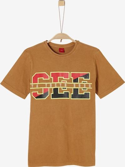 s.Oliver T-Shirt in cognac / gelb / rot / schwarz, Produktansicht