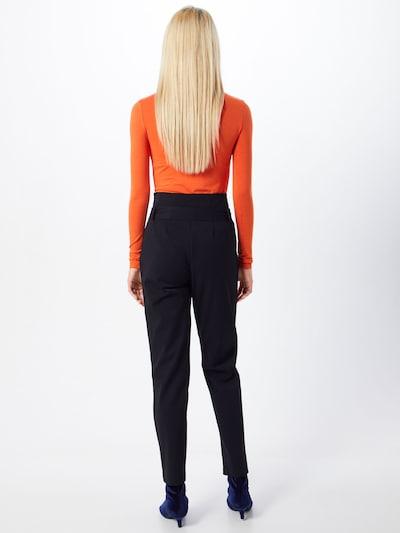Klostuotos kelnės iš OBJECT , spalva - juoda: Vaizdas iš galinės pusės