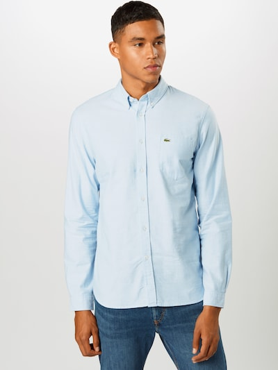 LACOSTE Chemise en bleu clair, Vue avec modèle