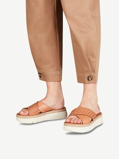 TAMARIS Pantolette in braun: Frontalansicht